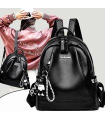 mochila casual mujeres- morral de la manera salvaje-negro