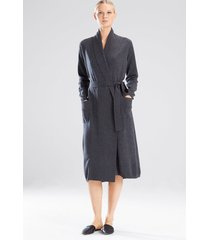 silk/cashmere sleep & lounge bath wrap robe, women's, size l, josie natori