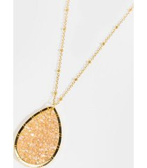 bella station teardrop necklace - champagne
