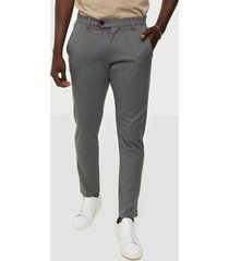 tailored originals pants - tofred byxor medium grey melange