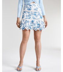 guess noelle cotton eyelet skirt