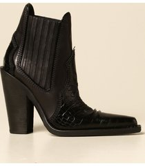 dsquared2 heeled booties camperos dsquared2 in crocodile print leather
