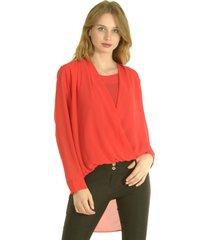 blusa lorenza rojo bous
