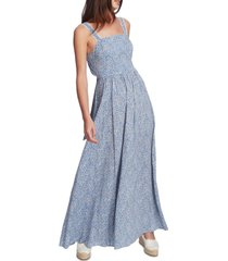 1.state ditsy-print maxi dress