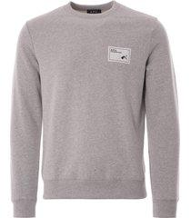 a.p.c. logo sweatshirt | grey | h27562-plb