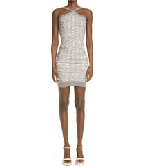 isa boulder guest body-con sweater dress, size large in river at nordstrom