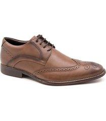 zapato de cuero marrón ferricelli prius oxford 400