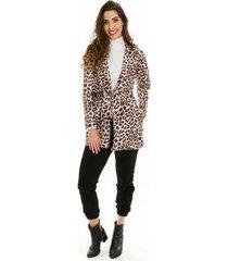 casaco jogabe animal print feminino