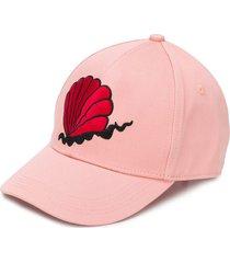 mini rodini shell baseball cap - pink