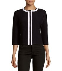 three-quarter sleeves knitted jacket