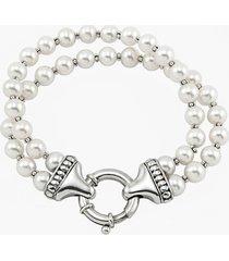 women's lagos 'luna' double strand pearl bracelet