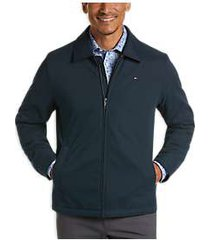 tommy hilfiger navy modern fit microtwill casual jacket