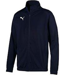 football liga sideline poly core jacket, blauw/wit, maat xs | puma