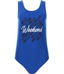 body weekend color azul, talla 10