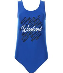 body weekend color azul, talla 10
