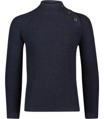 blue industry trui donkerblauw structuur