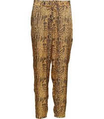 ocelot relax fit pant pantalon met rechte pijpen bruin rabens sal r