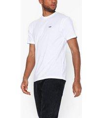 vans left chest logo tee t-shirts & linnen white/black