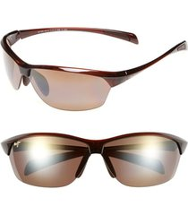 women's maui jim hot sands 71mm polarizedplus2 sunglasses - rootbeer