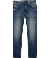 calça dudalina blue denim vintage jeans masculina (jeans medio, 50)