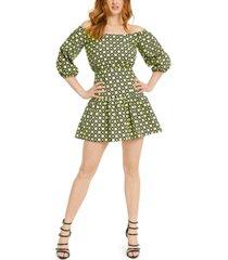 guess ottavia off-the-shoulder mini dress