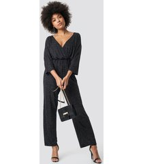 na-kd party glittery jumpsuit - silver