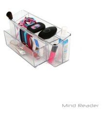 mind reader durable clear acrylic cabinet and pantry organizer