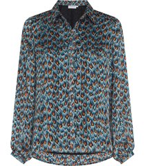 fabienne chapot frida collar blouse dusty blue & taupe