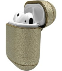 laura ashley metallic leather airpods case cover guard
