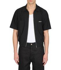 ambush woven shirt zipperd multi pocket shirt