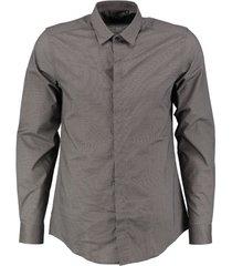 antony morato grijs slim fit overhemd valt kleiner