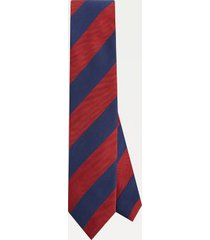 tommy hilfiger men's stripe herringbone tie navy/red -