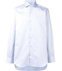 barba spread collar shirt - blue