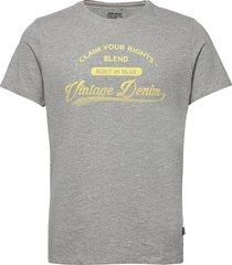 tee t-shirts short-sleeved grå blend