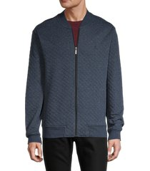 original penguin men's quilted cotton-blend bomber jacket - dark sapphire - size xl