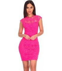 ax paris print crochet waistband dress