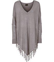 poncho (grigio) - bodyflirt boutique