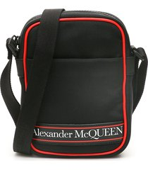 alexander mcqueen logo mini messenger bag