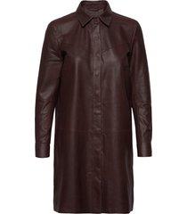 long shirt kort klänning röd depeche