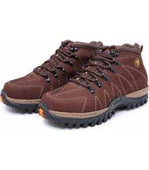 bota adventure em couro dr shoes café