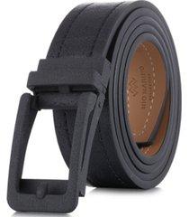 mio marino men's rugged leather linxx designer ratchet belt