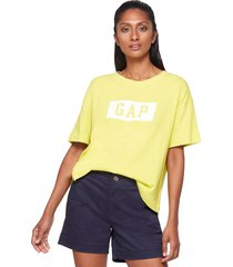 camiseta amarillo-blanco gap