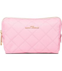 marc jacobs beauty triangle pouch bag - pink
