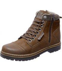 bota coturno em couro mega boots 6017 marrom - marrom - masculino - dafiti