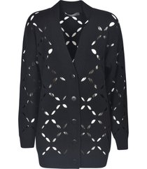 versace perforated cardigan