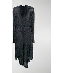 chloé lurex wrap dress