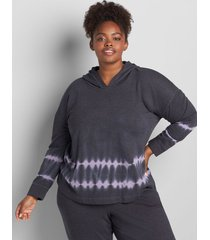 lane bryant women's livi hoodie - tie-dye 14/16 dusk