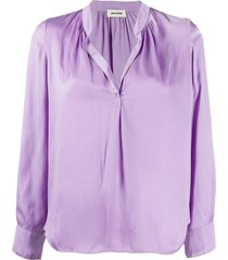 zadig & voltaire relaxed fit blouse - purple