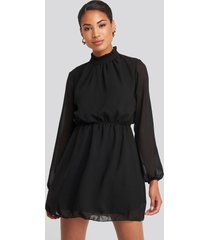 trendyol collar detailed dress - black