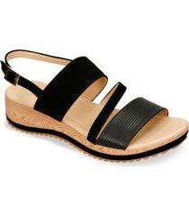 sandalias de plataforma negro bata howi mujer